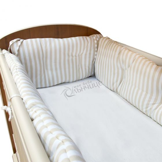 Комплект обиколници за креватче - Stripe