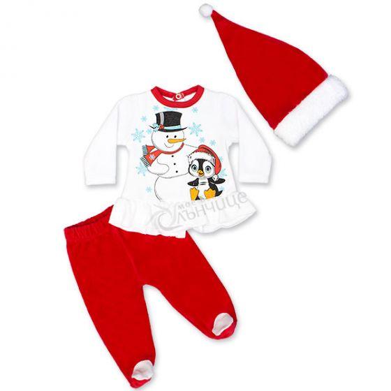 Коледен комплект - Снежко