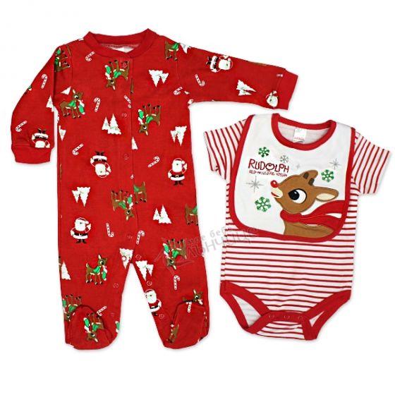 Коледен комплект от три части - Rudolph