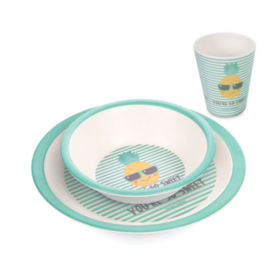 Комплект за хранене - Pineapple - бамбук - Canpol