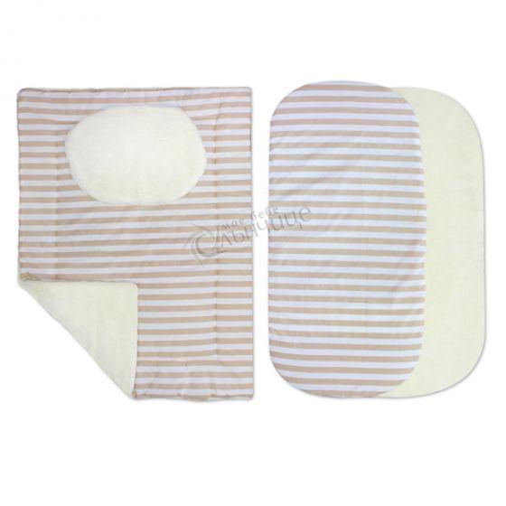 Комплект от четири части за количка зимен - Stripes