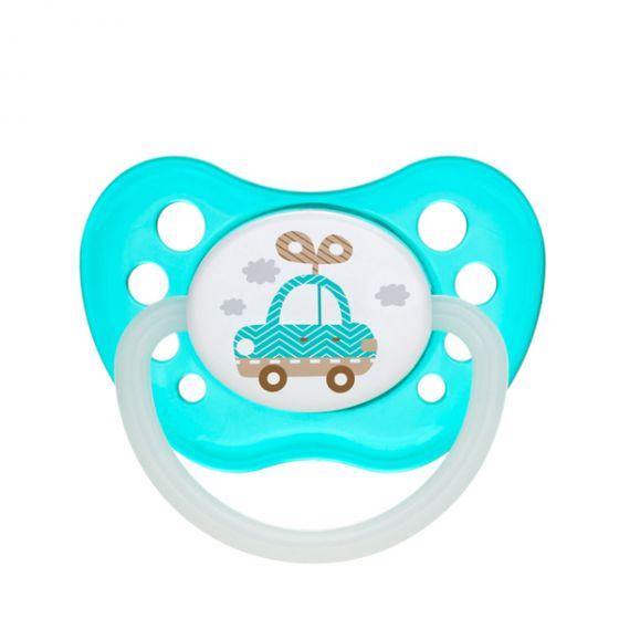 Каучукова ортодонтска залъгалка TOYS - Canpol - blue