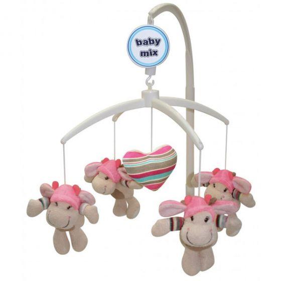 Музикална играчка за легло Funny Hippos - BABY MIX