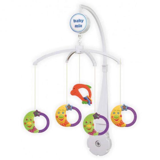 Музикална играчка за легло Funny Moons - BABY MIX