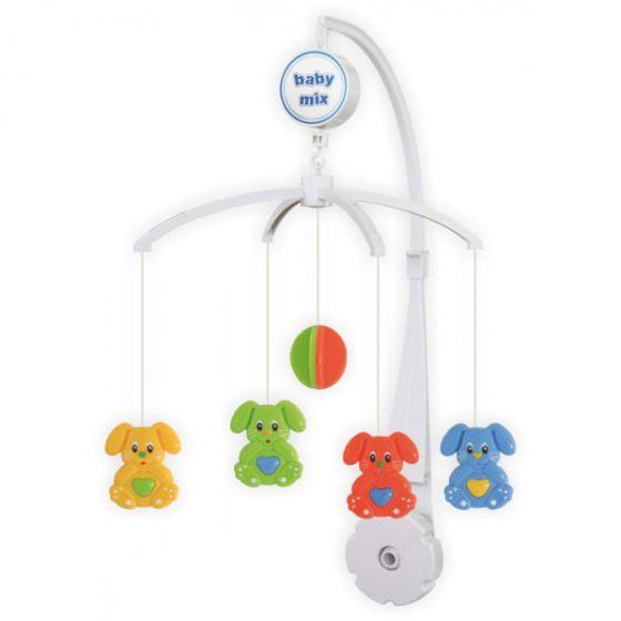 Музикална играчка за легло Зайчета - BABY MIX