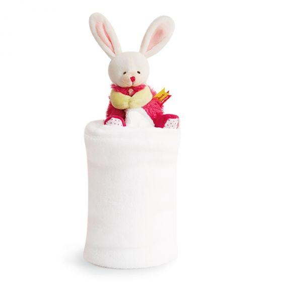 Одеало с играчка LOVELY BUNNY - Doudou et Compagnie