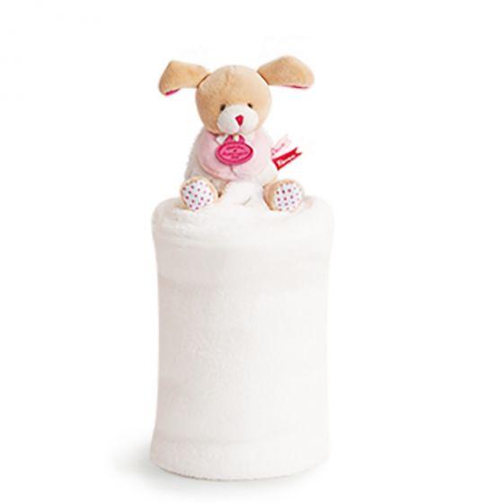 Одеало с играчка LOVELY PUPPY - Doudou et Compagnie