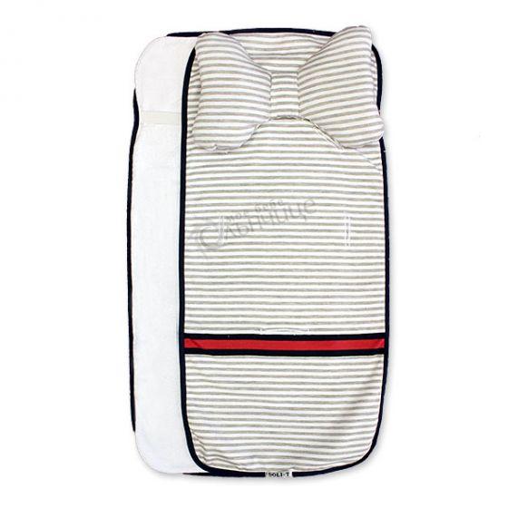 Подложка за количка с възглавница и хавлиен гръб - Grey