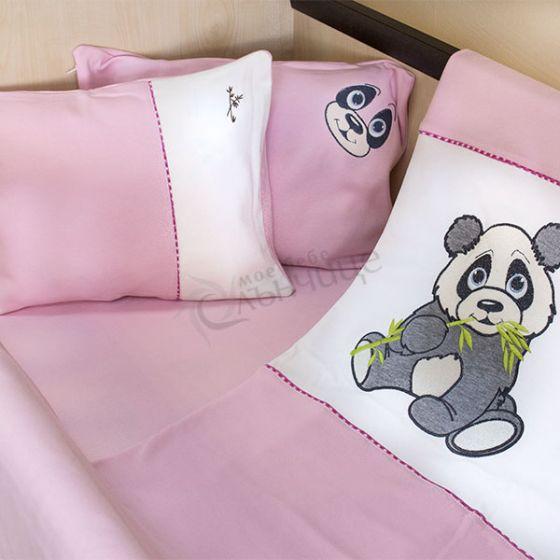 Спален комплект четири части Pandoo - Розов