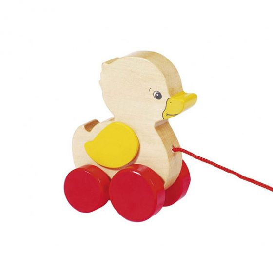 Дървена играчка за дърпане - Пате GOKI