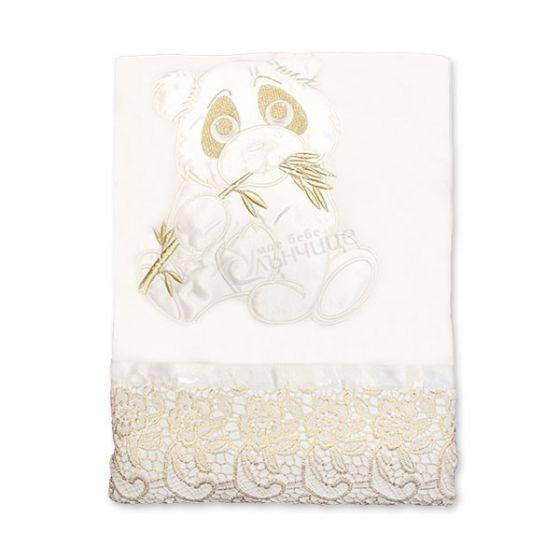 Пелена одеяло с брюкселска дантела - Pandoo