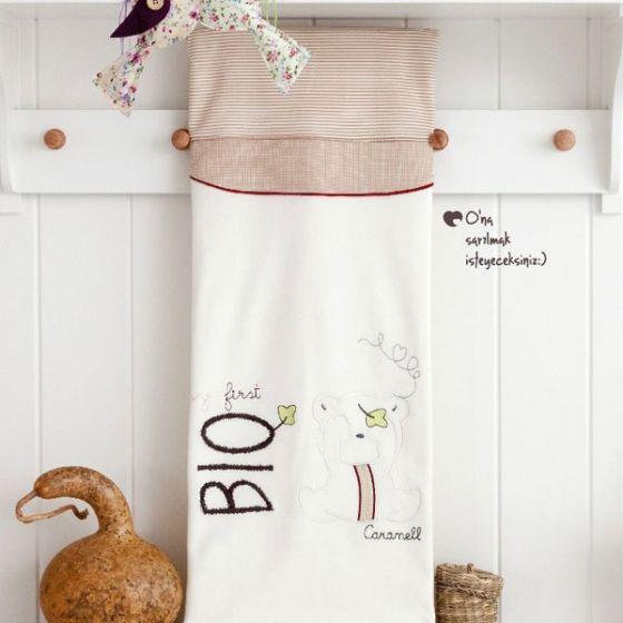 Пелена от органичен памук - Caramell