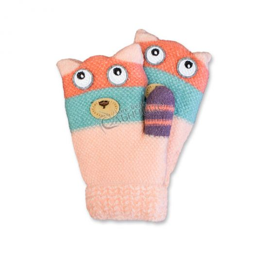 Зимни плетени ръкавици - Kiki Peach