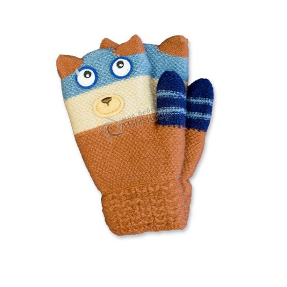 Зимни плетени ръкавици - Kiki Brown