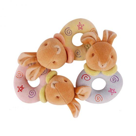 Плюшена дрънкалка Bunny - Baby Bow