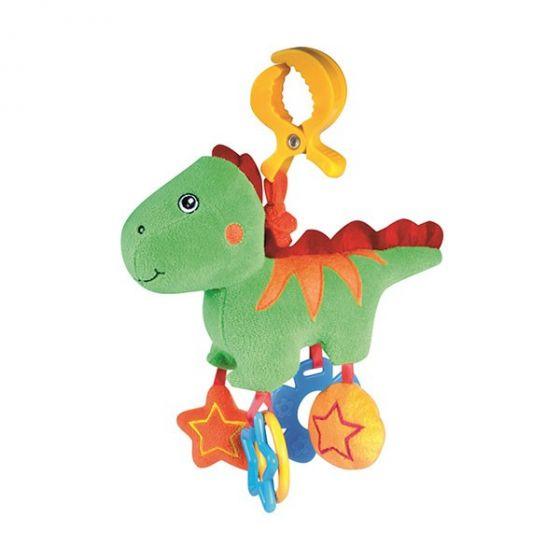 Плюшена вибрираща играчка Динозавър - Canpol
