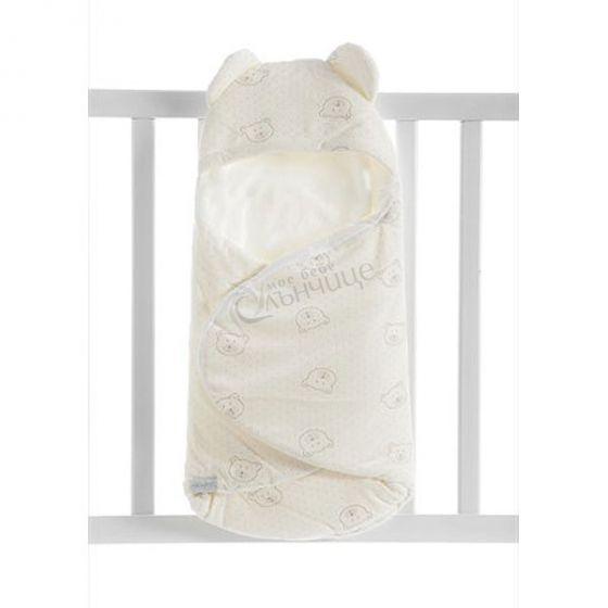 Бебешко плюшено одеяло за повиване - Dots