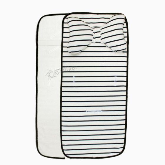 Подложка за количка с възглавница и хавлиен гръб - Navy