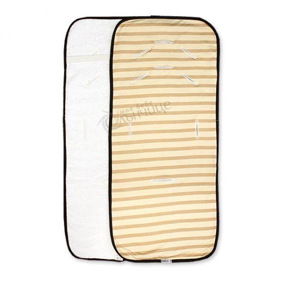 Подложка за количка с хавлиен гръб - Cream