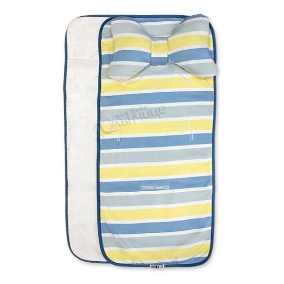 Подложка за количка с възглавница и хавлиен гръб - Stripe