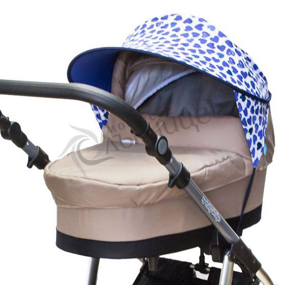 Двулицев сенник за количка с UV защита - Amor