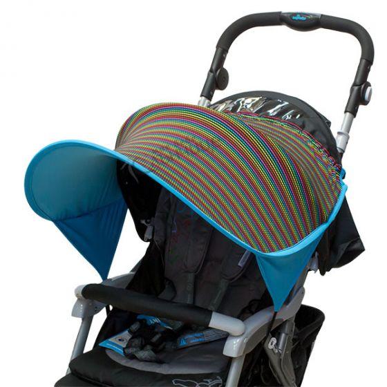 Двулицев сенник за количка с UV защита - Love