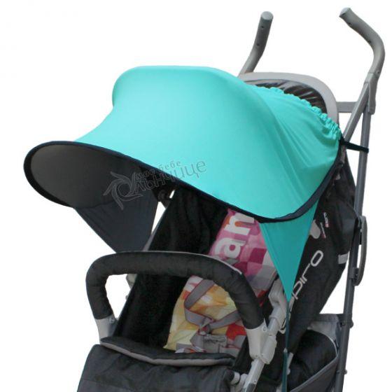Двулицев сенник за количка с UV защита - Тurquoise