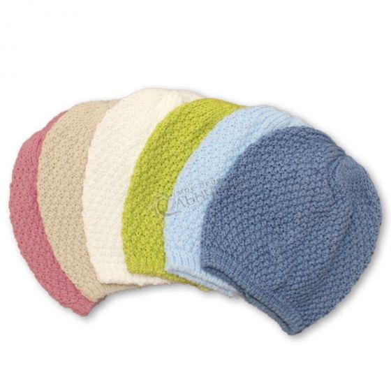 Плетена бебешка шапка бебе