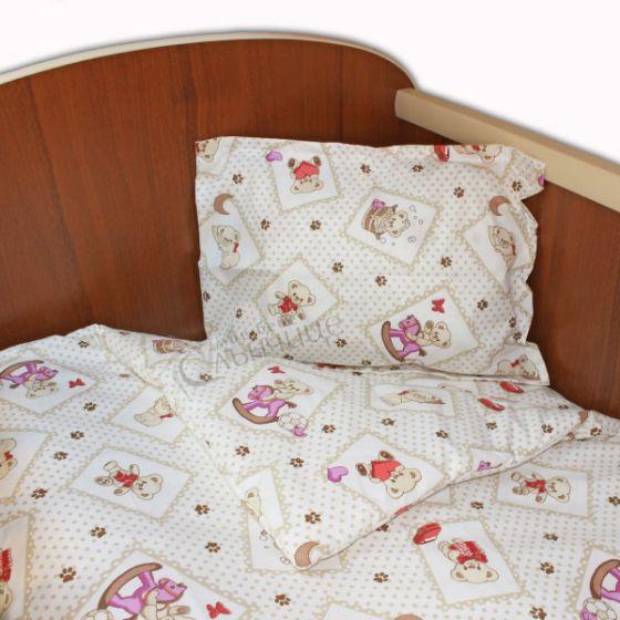 Спален комплект три части - BABY PAWS Червен
