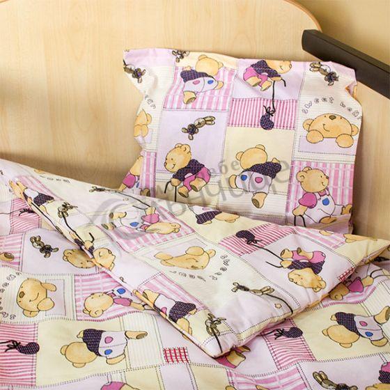 Спален комплект три части Happy Bear - Розов