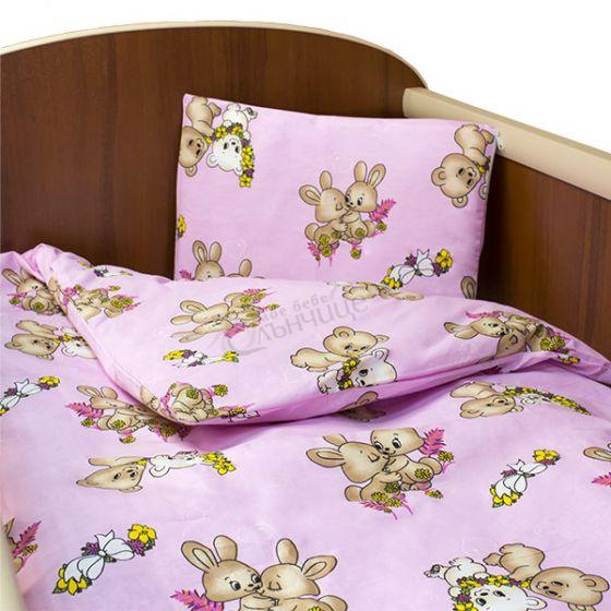 Спален комплект пет части - Amor Розов