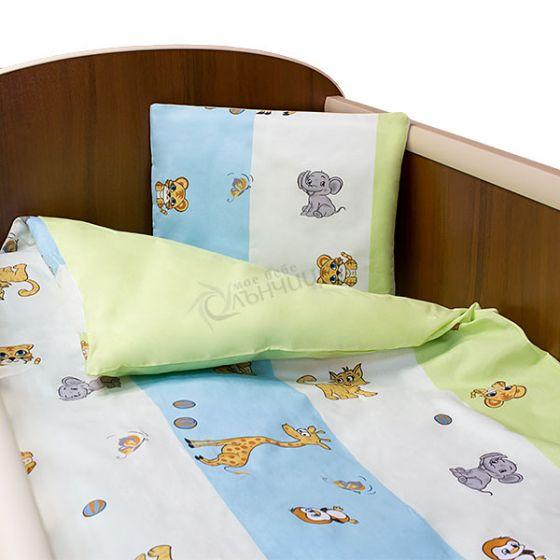 Спален комплект пет части - Animals Green
