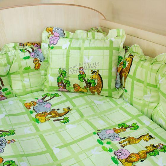 Спален комплект седем части - AFRICA Зелен