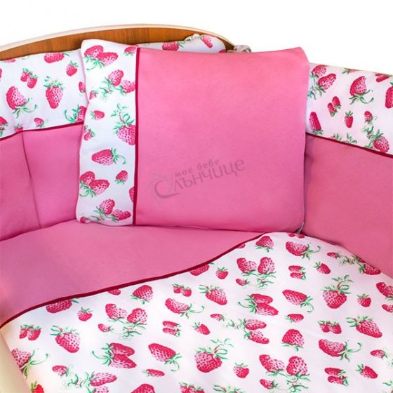 Спален комплект от девет части - Strawberry