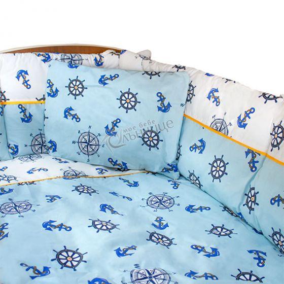 Двулицев спален комплект от девет части - Baby Sailor