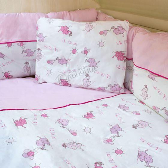 Спален комплект от девет части - Elephant Розов