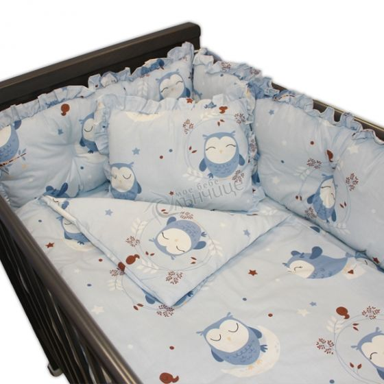 Спален комплект от седем части - Sleeping Owls Син