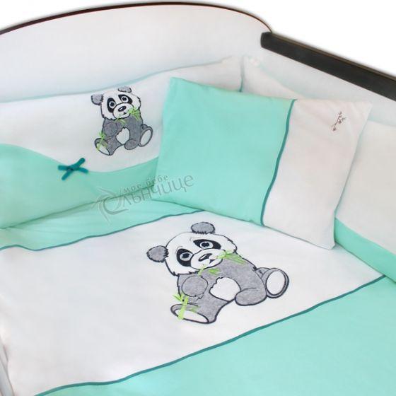 Спален комплект от десет части Pandoo - Мента