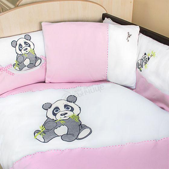 Спален комплект от десет части Pandoo - Розов