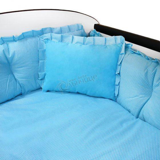 Спален комплект седем части - BLUE DOTS