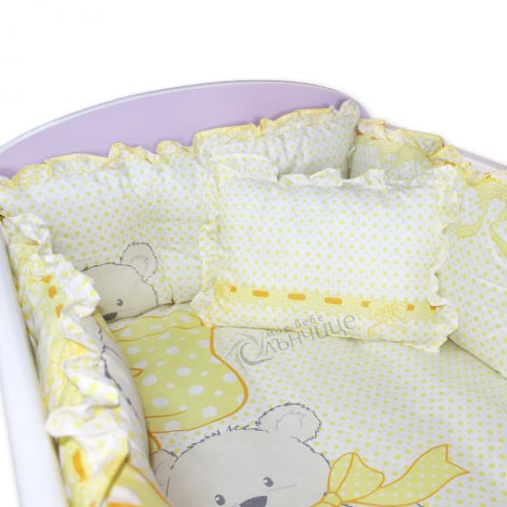 Спален комплект от седем части - Yellow Bows