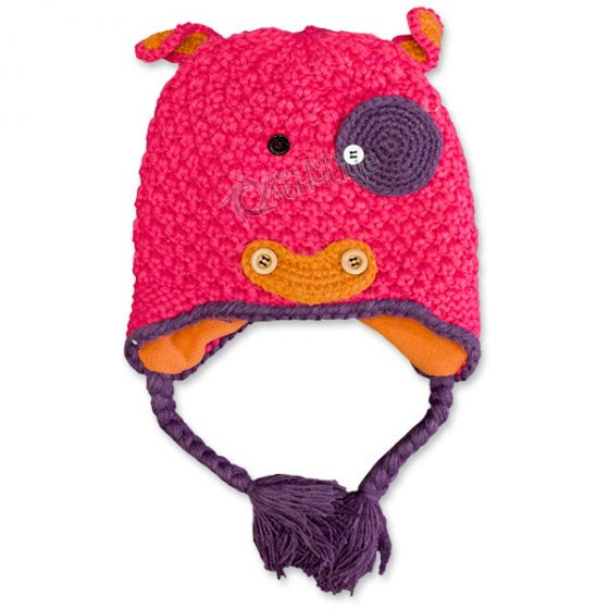 Зимна шапка плетиво - Kitty Pink