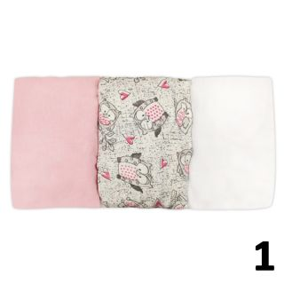 Комплект 3бр чаршафи за бебешка количка