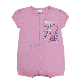 Летен бебешки гащеризон - Динозавърче Лилав