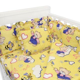 Спален комплект от седем части - Sugar Bear Жълт
