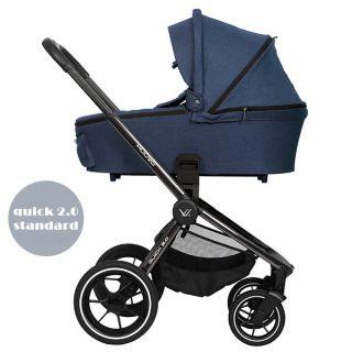 Бебешка количка 2в1 QUICK 2.0 Black Chrome - MUUVO