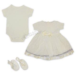 Комплект с рокля за изписване и кръщене - Lux