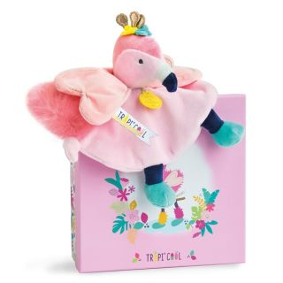 Плюшена играчка Flamant Tropicool - Doudou et Compagnie