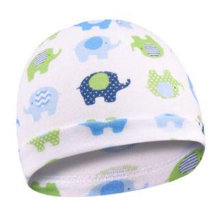 Памучна бебешка шапка - Слонче