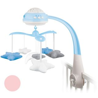 Електрическа музикална въртележка с прожектор и дистанционно - CANPOL